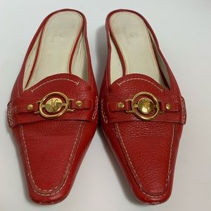Cole Han red slide on mules size 10